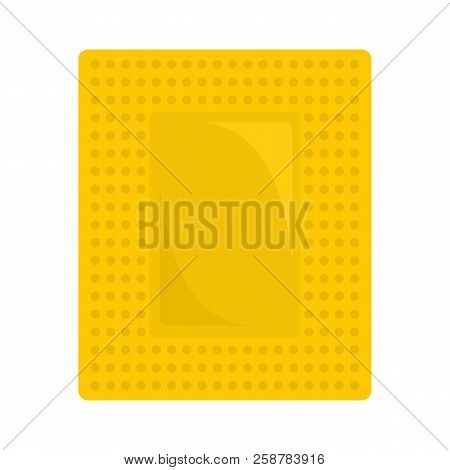 Contraceptive patch icon. Flat illustration of contraceptive patch vector icon for web design stock photo