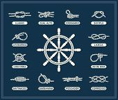 Nautical rope bunches set