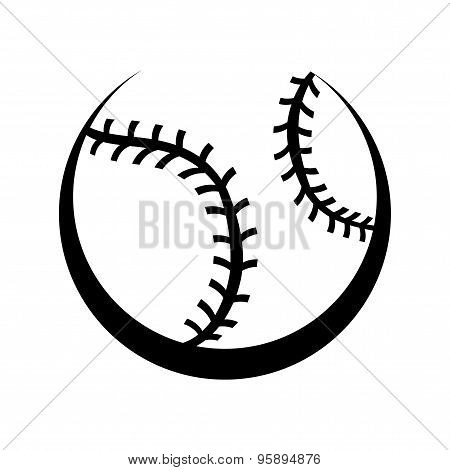 A vector illustration of a baseball with stitches stock photo