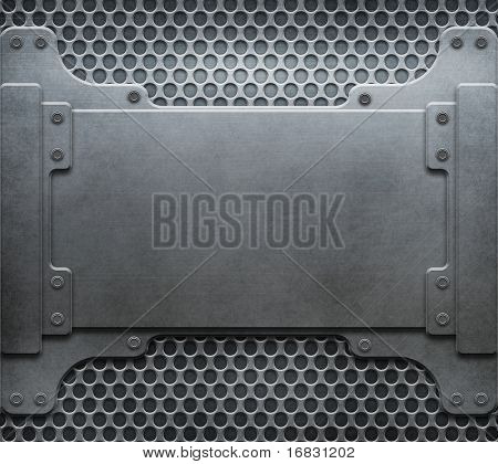 metal construction template (grunge background collection) stock photo