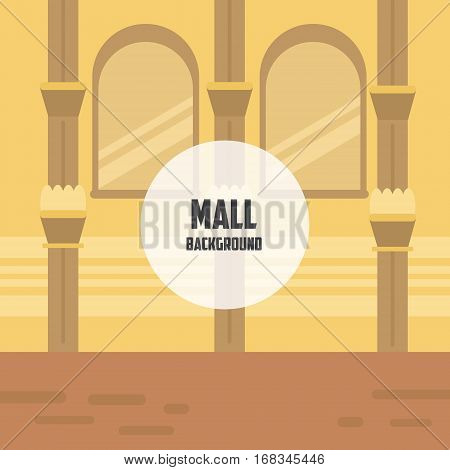 Mall background. Luxury architecture background. Background with columns and windows.