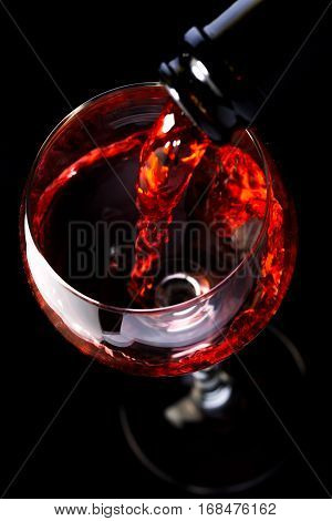 Wine Glasses With Wine Bottle On A Black Background, Minimalism, Silhouette-Lg Fridge Magnet Skin (size 36x65)