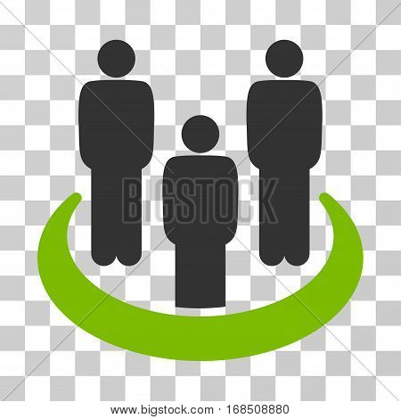 Social Group icon. Vector illustration style is flat iconic bicolor symbol, eco green and gray colors, transparent background. Designed for web and software interfaces.