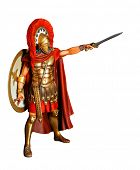 Spartan warrior in covering with sword - relic unapproved wooden model