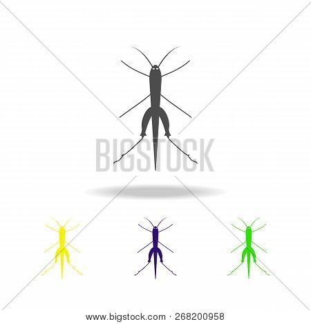 grasshopper multicolored icon. Elements of insect multicolored icon. Signs and symbol collection icon can be used for web, logo, mobile app, UI, UX stock photo
