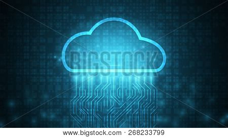 Computing Cloud Technology Data Storage Background,data Transfer To Cloud Technology Data Storage,fu