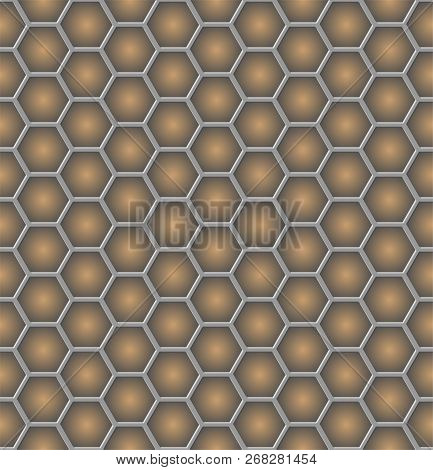 abstract honeycomb like seamless pattern EPS10 illustration stock photo