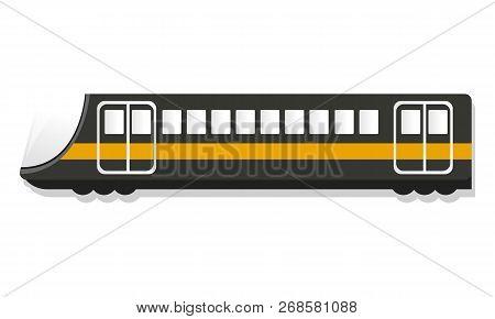 Urban passenger train icon. Cartoon of urban passenger train icon for web design isolated on white background stock photo