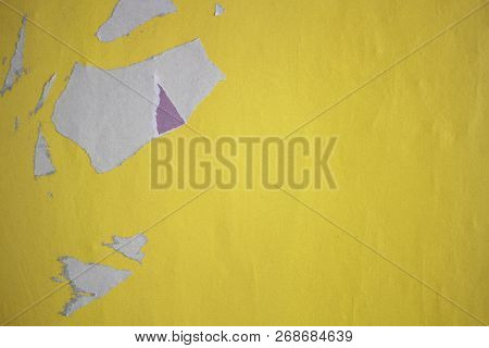 Old posters ripped torn creased crumpled paper grunge textures backgrounds surface backdrop stock photo