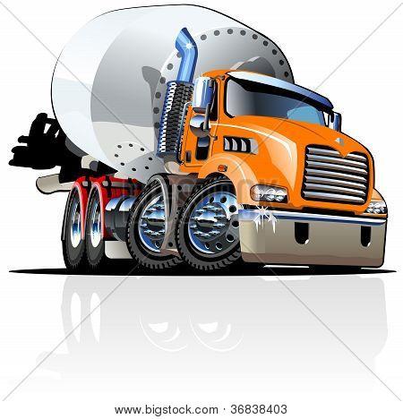 Cartoon Concrete Mixer Truck