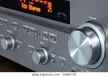 This is audio video receiver, one component of my home cinema.
