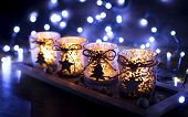 Advent, Four Candles Decorated