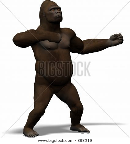 a great ape king of the jungle stock photo