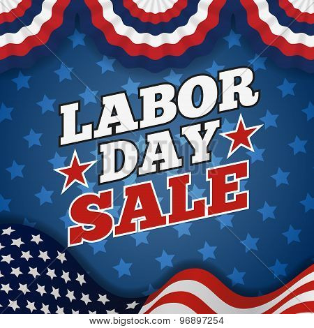 Labor day sale promotion advertising banner design