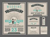 Classic vintage sunburst wedding welcome configuration with couple toon.