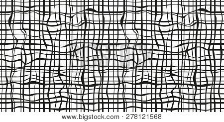 Seamless texture. Checkered pattern. Abstract wallpaper of the surface. Print for polygraphy, posters, t-shirts and textiles. Geometric background. Doodle for design. Black and white illustration stock photo