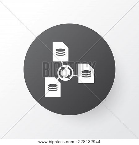 File sharing icon symbol. Premium quality isolated network element in trendy style. stock photo