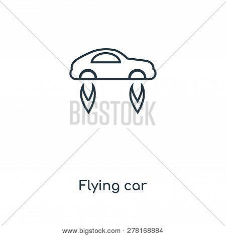 flying car icon in trendy design style. flying car icon isolated on white background. flying car vector icon simple and modern flat symbol for web site, mobile, logo, app, UI. flying car icon vector illustration, EPS10. stock photo