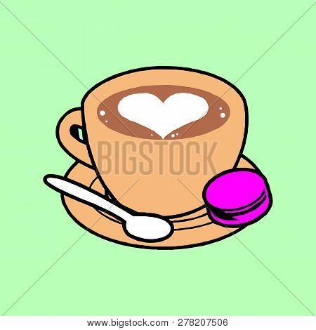 Coffee shop logo vector illustration. Espresso coffee icon symbol. Espresso coffee sign. Coffee shop logo emblem vector. Template of coffee shop logo for restaurant or bar menu. Espresso coffee logo or coffee stamps. coffee logo concept illustration Eps10 stock photo