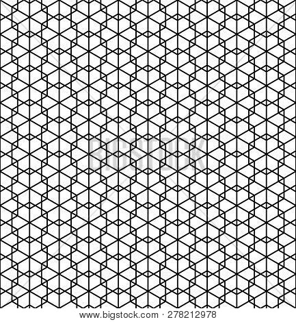 Beautiful pattern japanese shoji kumiko, great design for any purposes. Japanese pattern background vector. Japanese traditional wall, shoji.Average thickness lines. stock photo