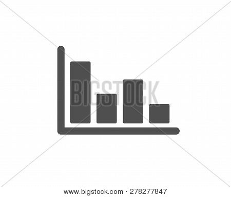 Histogram Column chart icon. Financial graph sign. Stock exchange symbol. Business investment. Quality design element. Classic style icon. Vector stock photo