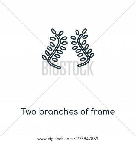 two branches of frame icon in trendy design style. two branches of frame icon isolated on white background. two branches of frame vector icon simple and modern flat symbol for web site, mobile, logo, app, UI. two branches of frame icon vector illustration stock photo