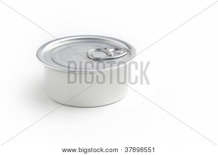 close up of a closed metal box stock photo
