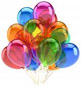 Balloons party birthday inflatable design bright translucent. Glad euphoria fun positive great feeli