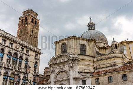 Church San Geremia and Palazzo Labia in Venice stock photo