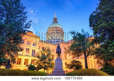 Georgia State Capitol Building in Atlanta, Georgia, USA.