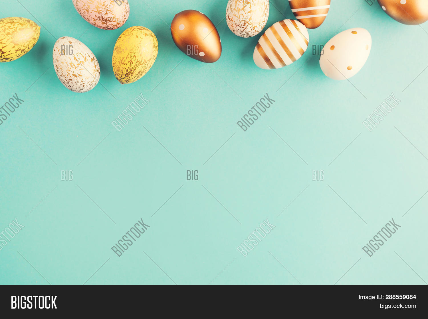 art,background,bright,celebration,colorful,concept,conceptual,copy,creative,decor,decoration,design,dots,easter,egg,festive,flat,gift,gold,golden,group,happy,holiday,lay,minimal,minimalist,modern,paint,pastel,row,space,spring,still,stripes,style,stylish,symbol,top,traditional,turquoise,view