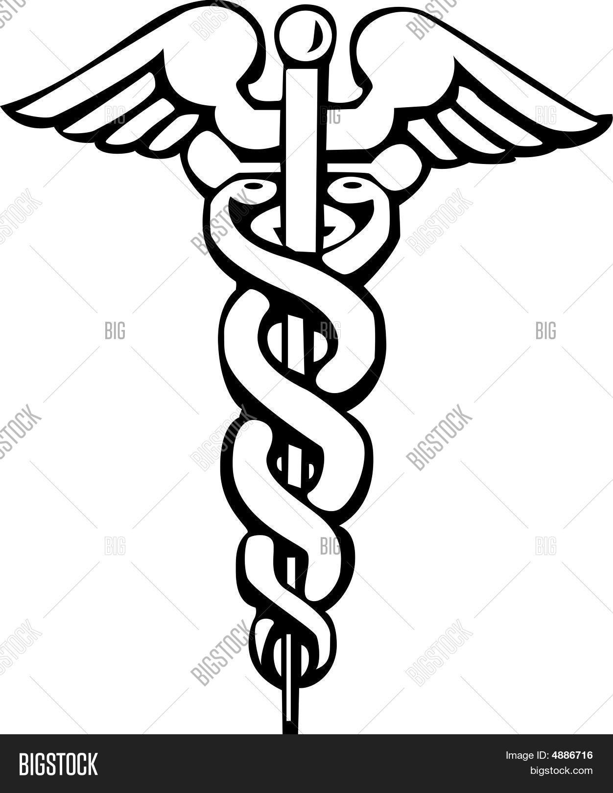 Caduceus Greek Sign Or Symbol Photo Stock