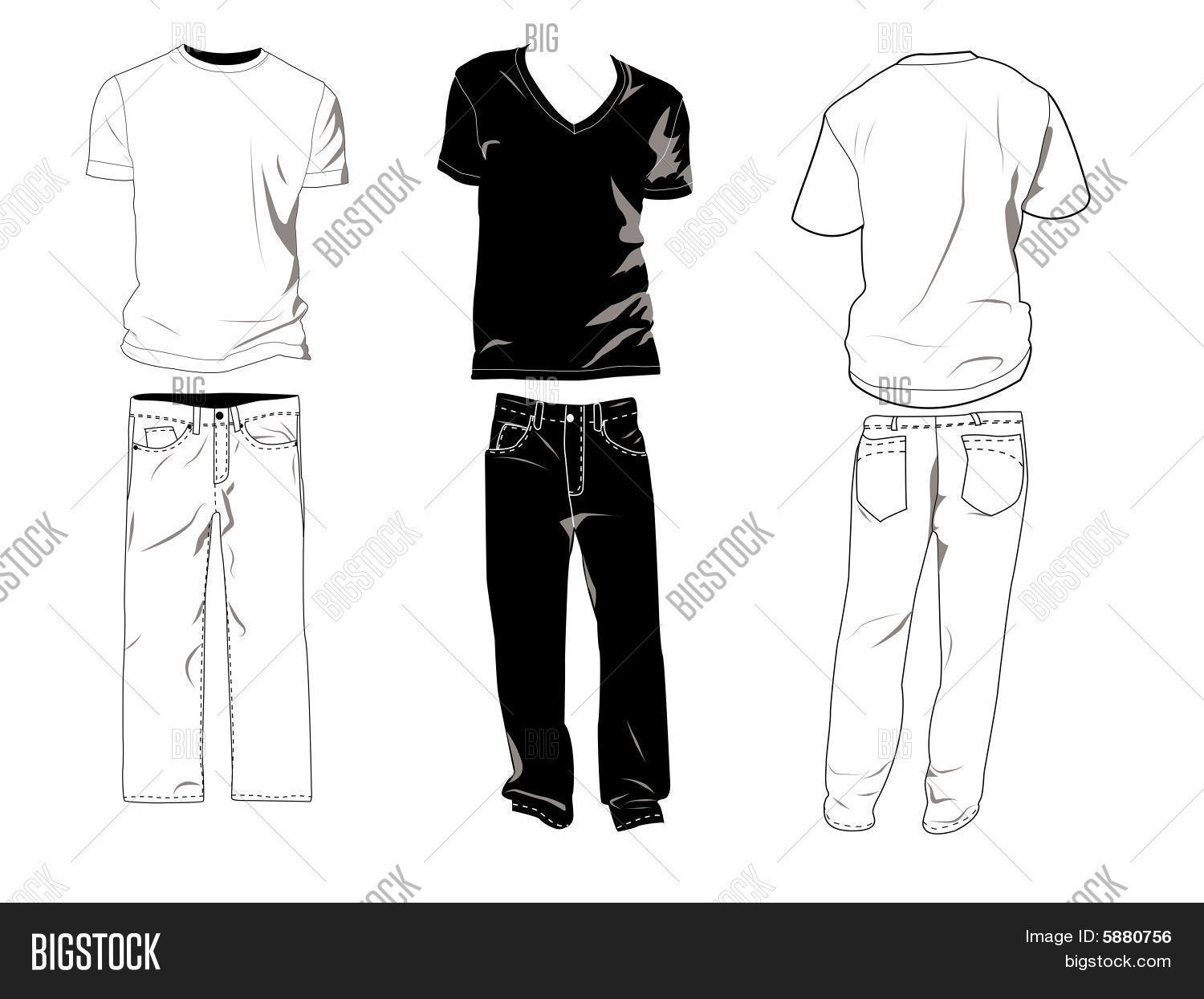 t shirts and jeans template