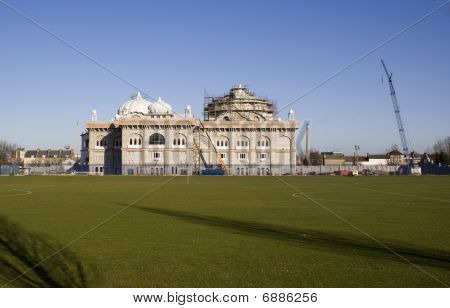 Image of the new Indian temple being built in Gravesend Kent stock photo