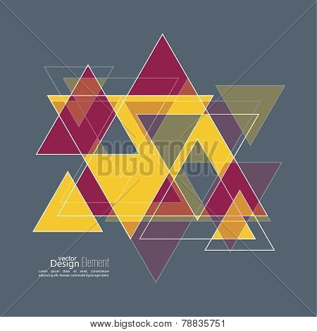 Abstract background with hipster triangles. Triangle pattern background. For cover book, brochure, flyer, poster, magazine, cd cover design, t-shirt stock photo
