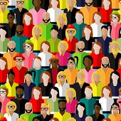 vector consistent example with an expansive gathering of men and ladies. level outline of society in