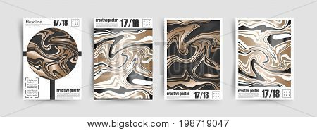 Luxury Marble. Template collection. Golden foil. Textured pattern. Cover design. Marbled background. Gold and Marble Vector. stock photo