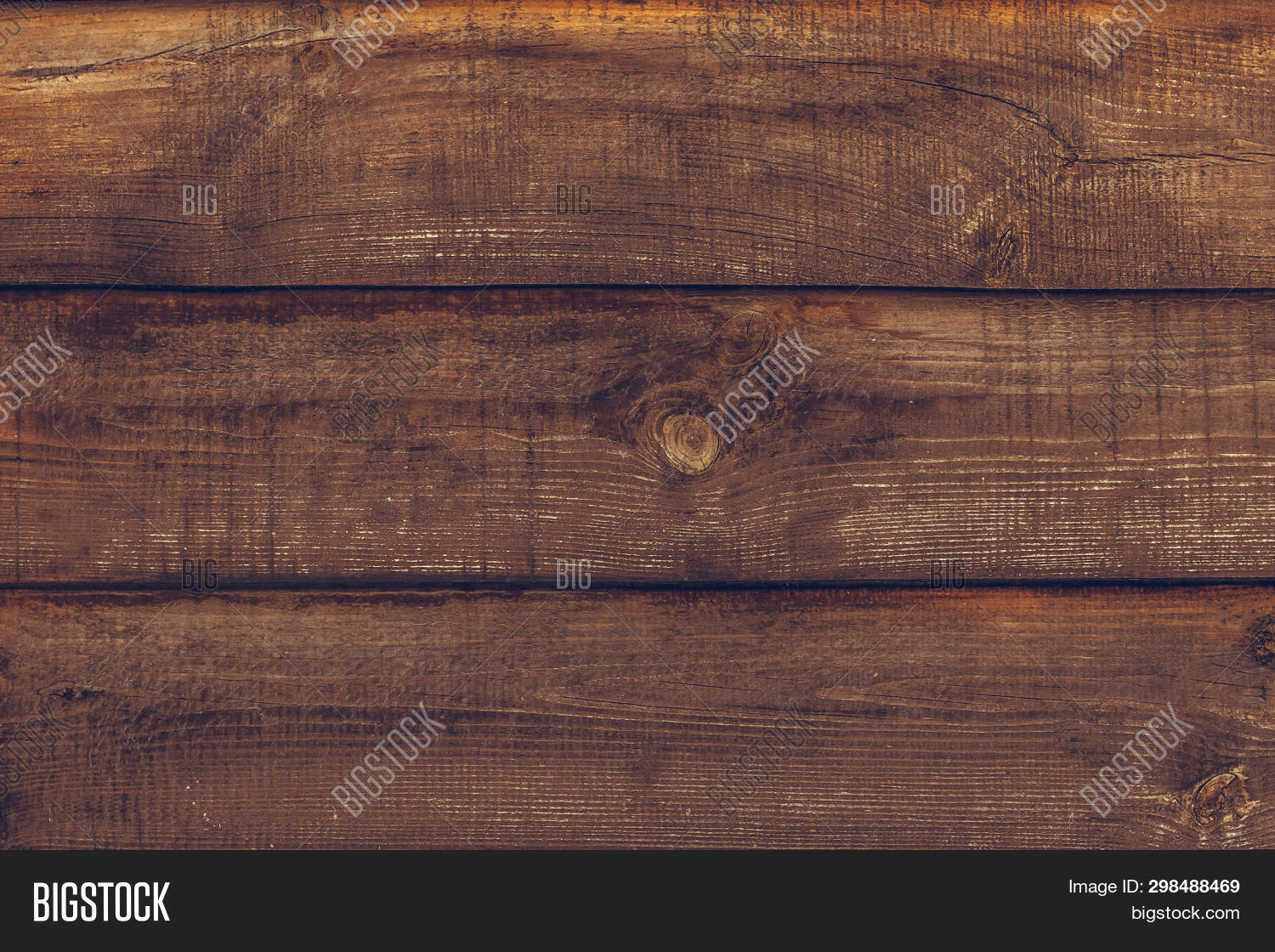 Vintage Wooden Texture Of Board. Grunge Wood Wall Pattern Of Fence. Old Wood Dark Brown Background T