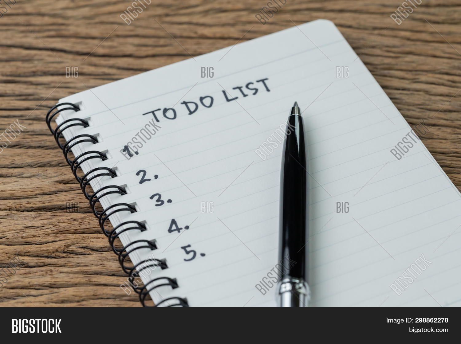 To Do List, Checklist Of Things Or Tasks To Complete For Life Habit, Business Project Plan Concept,