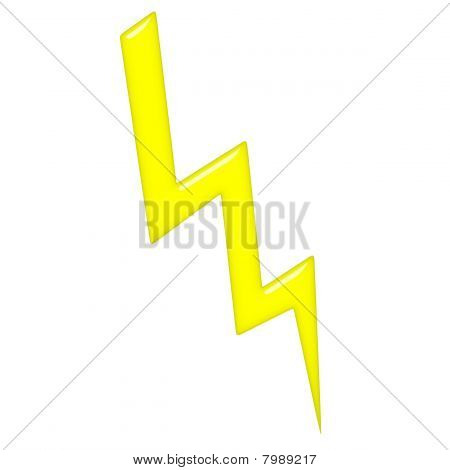 2d lightning that is isolated in white stock photo