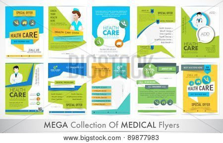 big set of medical flyers stock images page everypixel