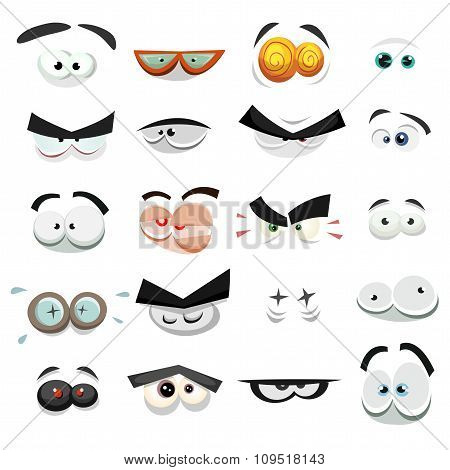 Comic Eyes Expression Set