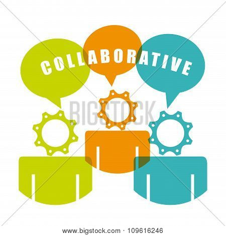 colaborative people design, vector illustration eps10 graphic stock photo