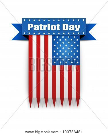 Color Flag On The Patriot Day.