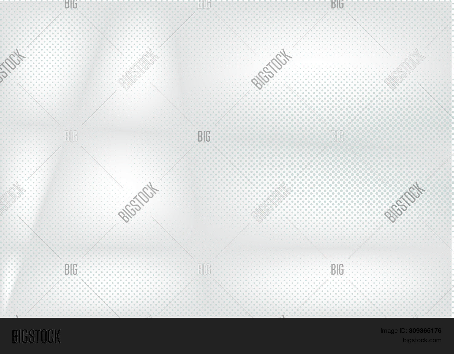 Halftone White And Grey Background. Abstract Decorative Web Layout Or Poster, Banner. Abstract Halft