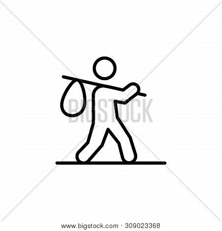 refugee migration outline icon. element of migration illustration icon. signs, symbols can be used for web, logo, mobile app, UI, UX stock photo