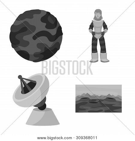 Vector design of universe and travels icon. Set of universe and cosmic stock vector illustration. stock photo