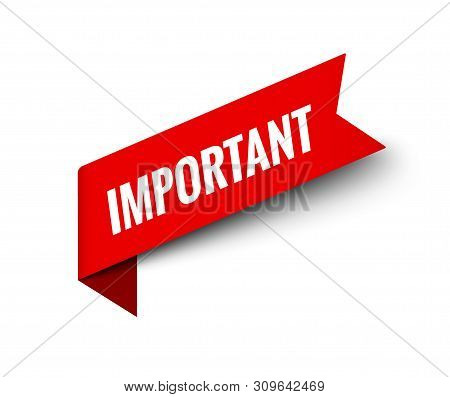 Important notice attention banner information. Careful alert sign. Important notice sticker stock photo