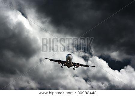 Avion en approche finale