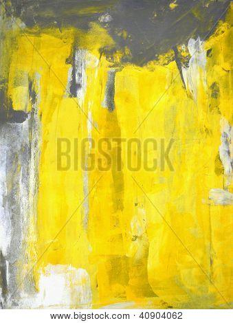 Gris et jaune art abstrait peinture
